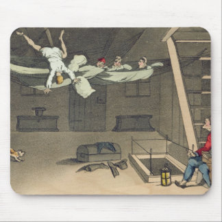 Turning in - and out again, plate from 'The Advent Mouse Mat
