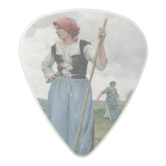 Turning the Hay (oil on canvas) Acetal Guitar Pick