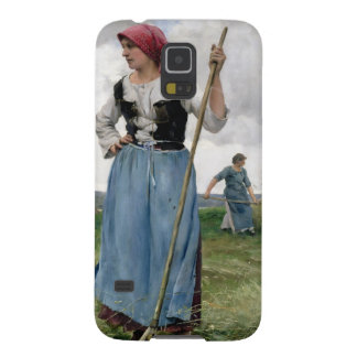 Turning the Hay (oil on canvas) Galaxy S5 Cover