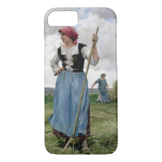 Turning the Hay (oil on canvas) iPhone 8/7 Case