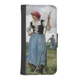 Turning the Hay (oil on canvas) iPhone SE/5/5s Wallet Case