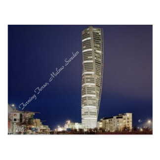 Turning Torso of Sweden by Night - Postcard