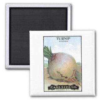 Turnip, Card Seed Company Square Magnet