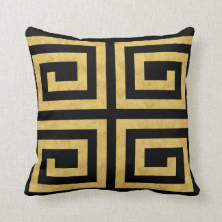 Turns Gold  Black Decor-Soft Pillow two for one