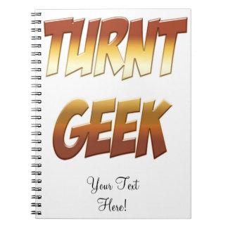 Turnt Geek Gold Note Book