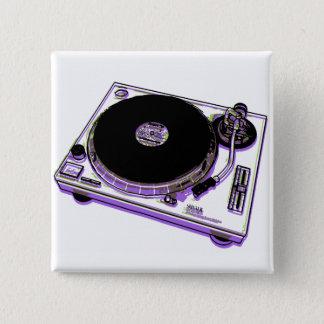 Turntable 15 Cm Square Badge