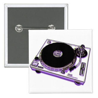 Turntable 15 Cm Square Badge
