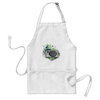 turntable deejay  vector adult apron