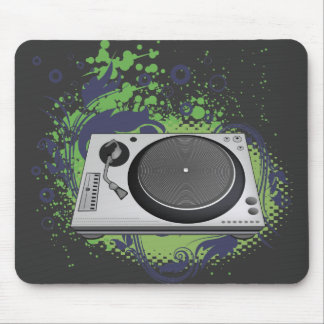 turntable deejay  vector mouse pad