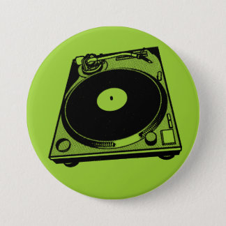 Turntable Graphic 7.5 Cm Round Badge