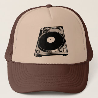 Turntable Graphic Trucker Hat