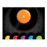 Turntable Records In Vivid Colours
