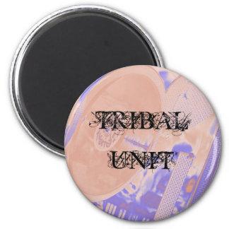 turntable, TRIBAL UNIT Fridge Magnets
