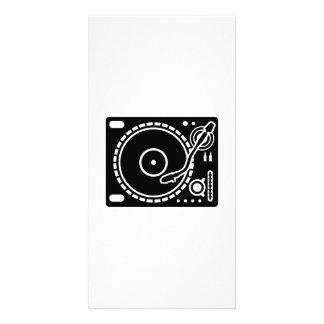 Turntable vinyl custom photo card