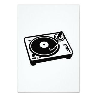 Turntable vinyl 3.5x5 paper invitation card