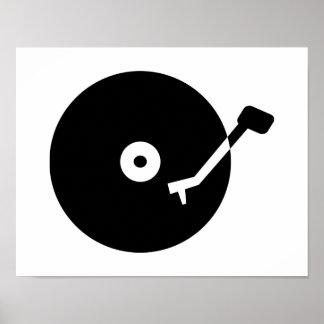 Turntable vinyl poster