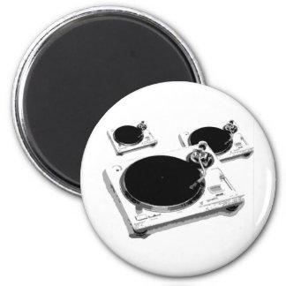 turntables 6 cm round magnet
