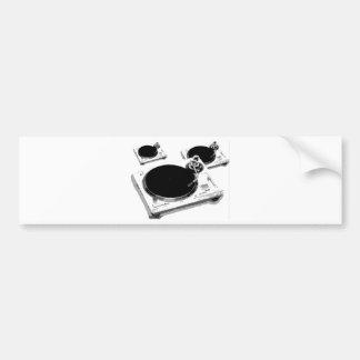 turntables bumper sticker
