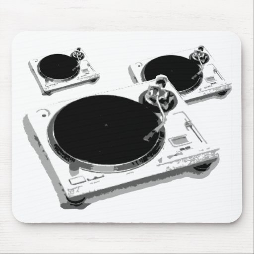 turntables mouse pads