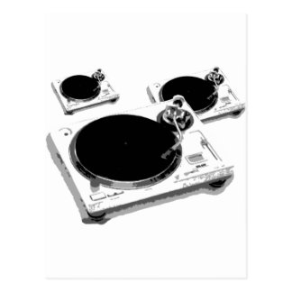 turntables postcards