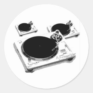 turntables classic round sticker