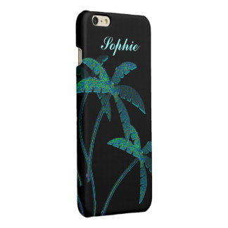 Turqoise Opal Palm Trees iPhone 6 Plus Case