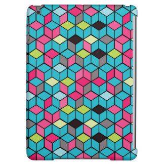 Turqouise and Pink Cube Pattern
