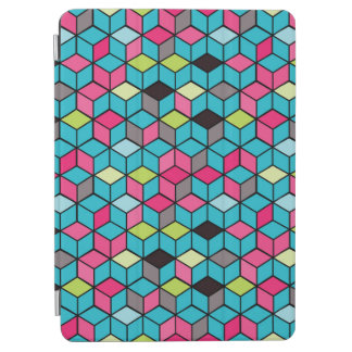 Turqouise and Pink Cube Pattern iPad Air Cover