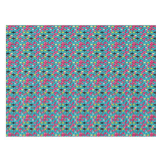 Turqouise and Pink Cube Pattern Tablecloth