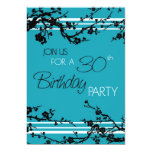 Turquoise 30th Birthday Party Invitation Card
