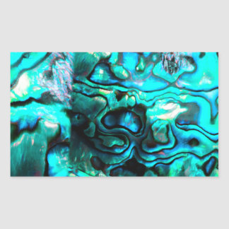 Turquoise abalone paua shell detail rectangular sticker