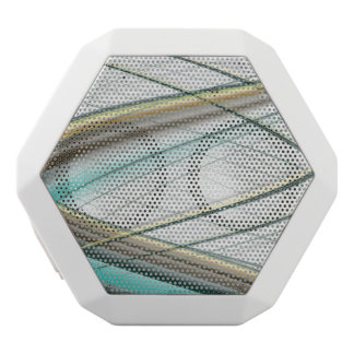 Turquoise abstract collection theme 1 white bluetooth speaker