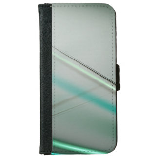 Turquoise abstract collection theme 3 iPhone 6 wallet case