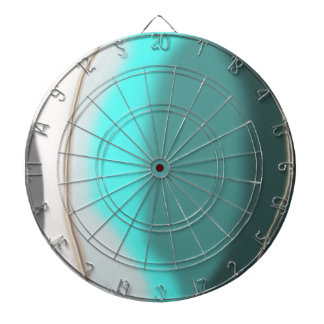 Turquoise Abstract Dartboard