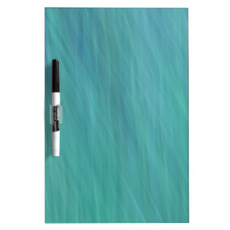 Turquoise abstract dry erase board