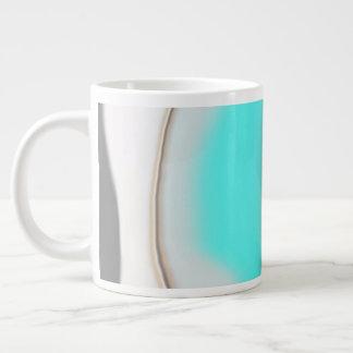 Turquoise Abstract Giant Coffee Mug