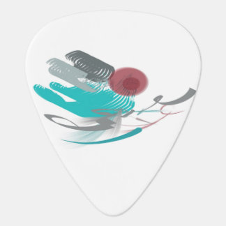 Turquoise Abstract Plectrum