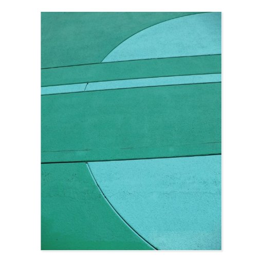 Turquoise Abstract Postcard