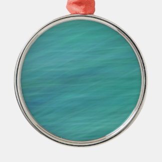 Turquoise abstract Silver-Colored round decoration