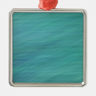 Turquoise abstract Silver-Colored square decoration