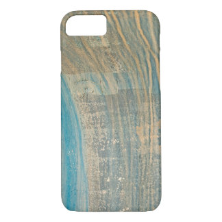 turquoise abstract streaks iPhone 8/7 case