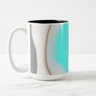 Turquoise Abstract Two-Tone Coffee Mug