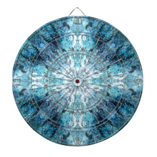 Turquoise Abstract, with some soft blurred edges. Dartboard