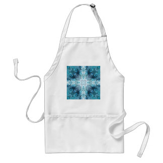 Turquoise Abstract, with some soft blurred edges. Standard Apron