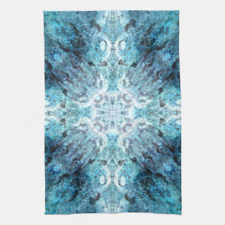 Turquoise Abstract, with some soft blurred edges. Tea Towel