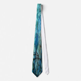 Turquoise and Auqua Marine abstract design tie