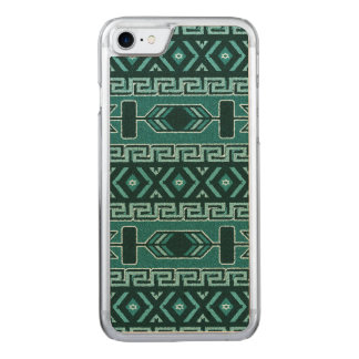 Turquoise And Black Aztec Pattern Phone Carved iPhone 8/7 Case