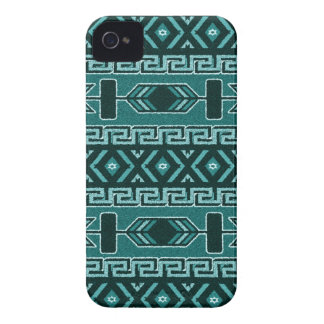 Turquoise And Black Aztec Pattern Phone Case iPhone 4 Case-Mate Cases
