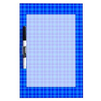 Turquoise and Blue Retro Chequered Pattern Dry Erase Board