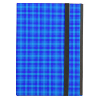 Turquoise and Blue Retro Chequered Pattern iPad Air Cover